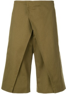Jil Sander front panel shorts - Green