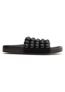 Jil Sander Fussbett beaded leather slides