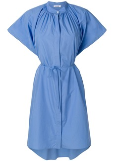 Jil Sander gathered asymmetric dress - Blue