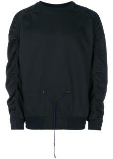 Jil Sander gathered drawstring sweatshirt - Black