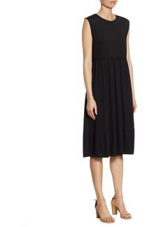 Jil Sander Gathered Jersey Dress