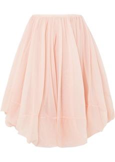 Jil Sander Gathered tulle skirt