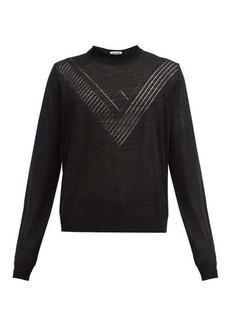 Jil Sander Geometrical-chevron wool sweater