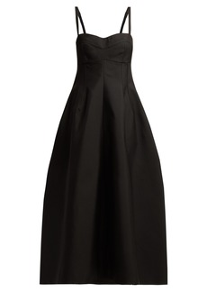 Jil Sander Ginestra twill bustier dress