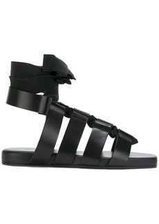 Jil Sander gladiator sandals - Black