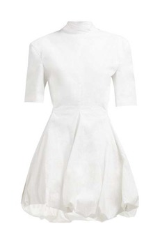 Jil Sander Gwyneth puff-hem cotton-blend mini dress