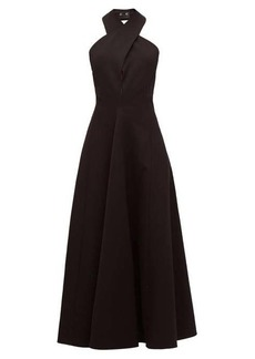 Jil Sander Halterneck wool twill dress