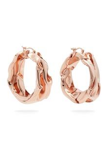 Jil Sander Hammered rose gold-tone hoop earrings