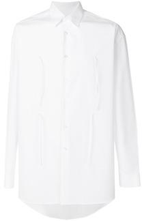 Jil Sander hanging ribbon detail shirt - White