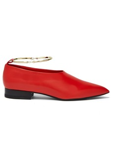 Jil Sander High-cut leather flats