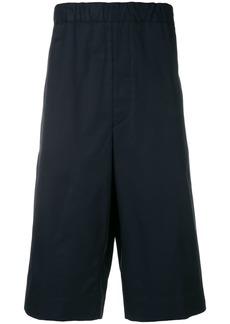 Jil Sander high-waisted chino shorts - Blue