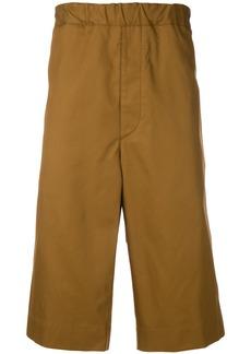 Jil Sander high-waisted chino shorts - Brown