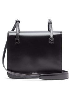 Jil Sander Square leather cross-body bag