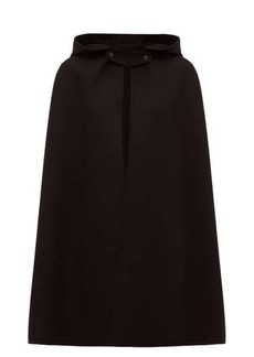 Jil Sander Hooded cashmere cape