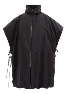 Jil Sander Hooded water-repellent down poncho coat