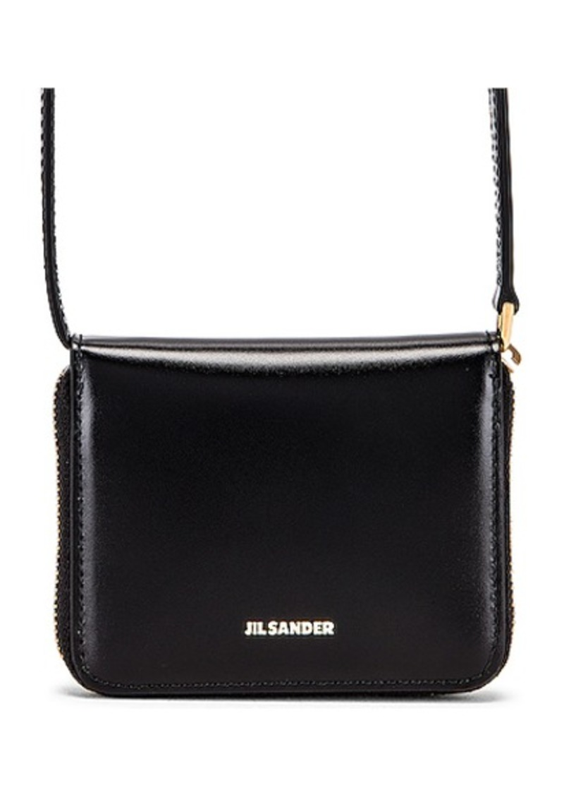 Jil Sander Hook Zip Wallet Crossbody Bag