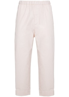 Jil Sander Ivory tapered cropped trousers - Pink & Purple