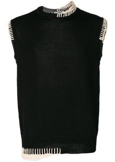 Jil Sander knitted vest - Black
