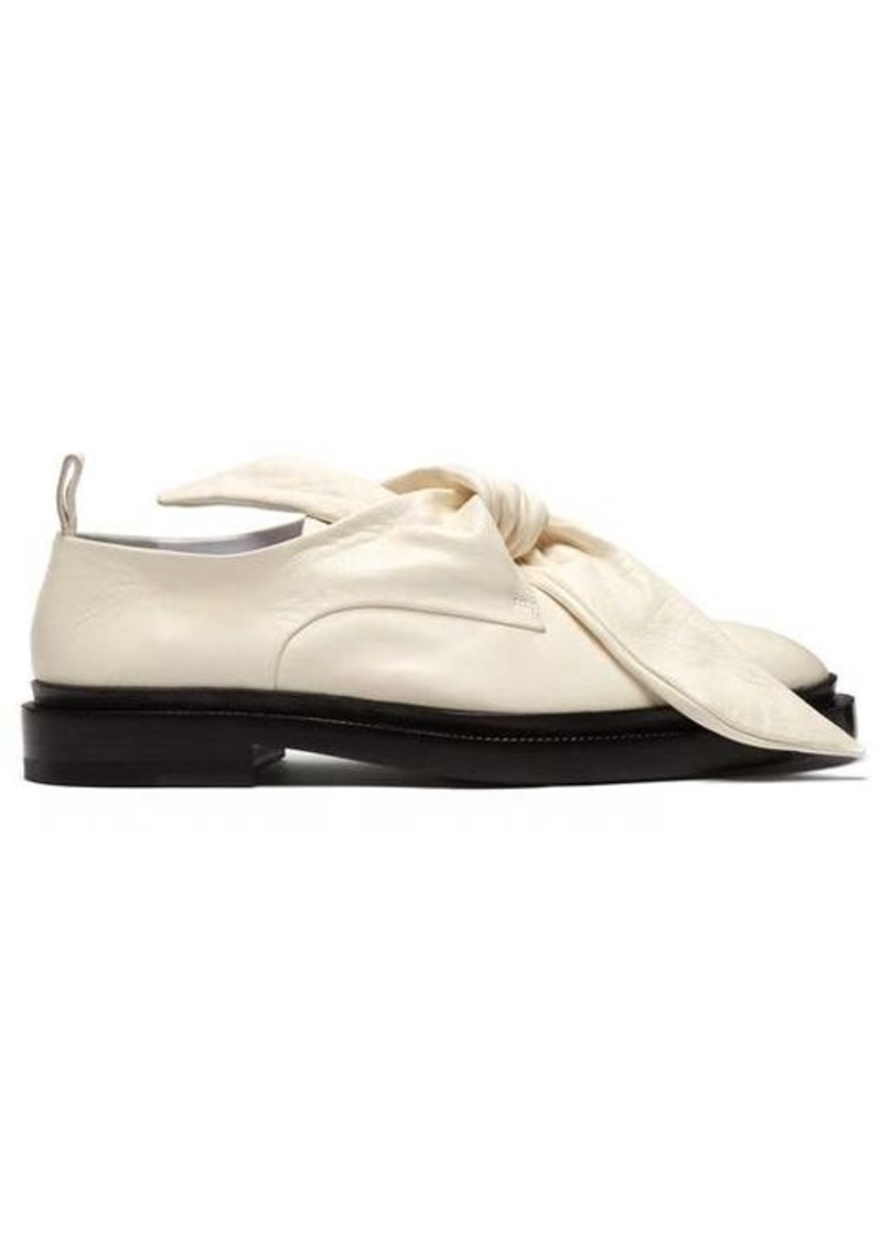 Jil Sander Knot-front leather loafers