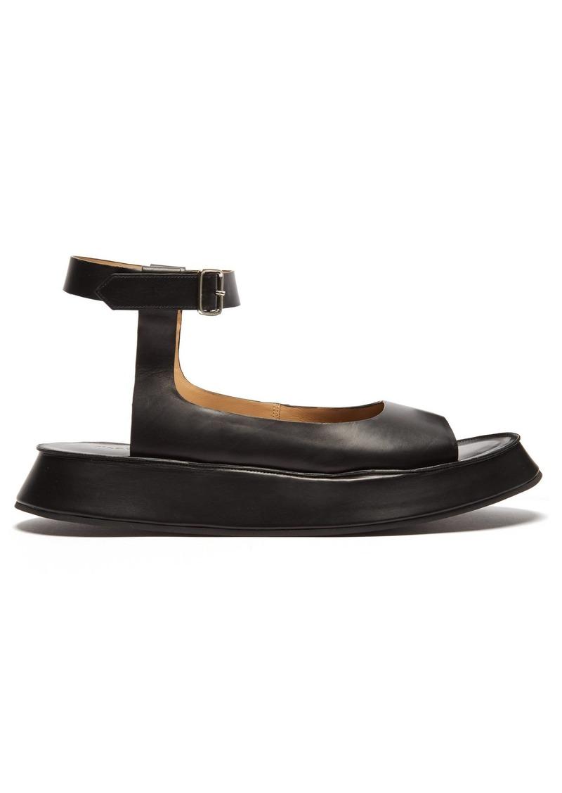 d3d07bb744 Jil Sander Jil Sander Leather flatform sandals | Shoes
