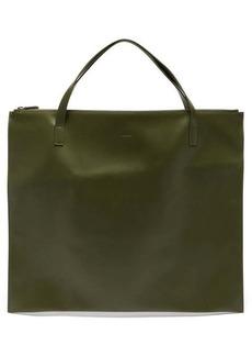 Jil Sander Logo-debossed leather tote bag