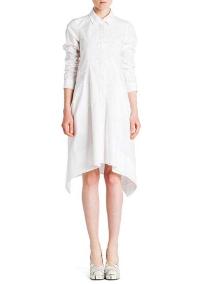 Jil Sander Long-Sleeve Button-Front Shirtdress