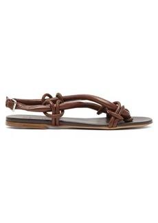 Jil Sander Loop cross-over strap leather sandals