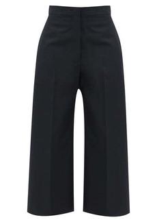 Jil Sander Mattia flared wide-leg cotton trousers
