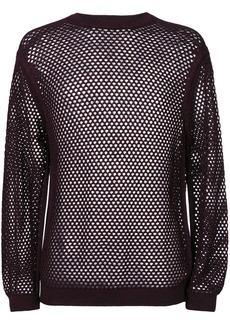 Jil Sander mesh detail sweater - Pink & Purple