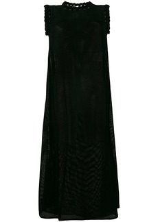 Jil Sander mesh effect sleeveless dress - Black