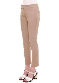 Jil Sander Mid-Rise Zipper-Cuff Slim Pants