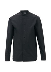 Jil Sander Monday P.M. band-collar cotton-faille shirt