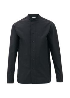 Jil Sander Monday P.M. band-collar cotton-faille shirt