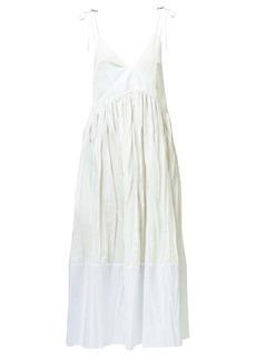 Jil Sander Namie drawstring creased voile midi dress