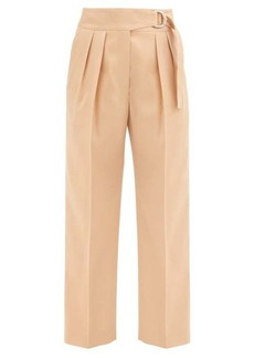 Jil Sander Napoleon pleated virgin wool-gabardine trousers