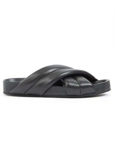 Jil Sander Nappa padded crossover leather slides