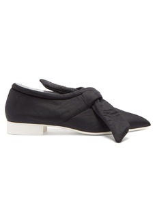 Jil Sander Neoprene bow point-toe flats