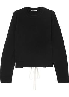 Jil Sander Open back lace-up cashmere sweater