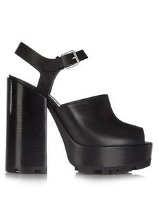 Jil Sander Open-toe leather platform sandals