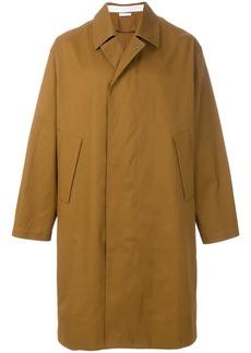 Jil Sander oversized button coat - Brown