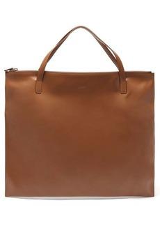 Jil Sander Oversized leather tote bag