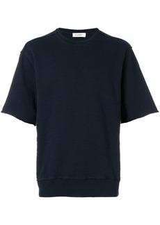 Jil Sander oversized short sleeves sweatshirt - Blue