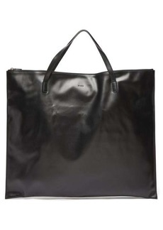 Jil Sander Oversized smooth-leather tote