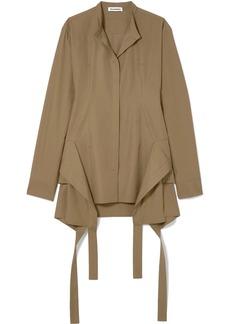 Jil Sander Paneled Cotton-poplin Shirt