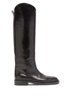 Jil Sander Panelled leather knee-high boots