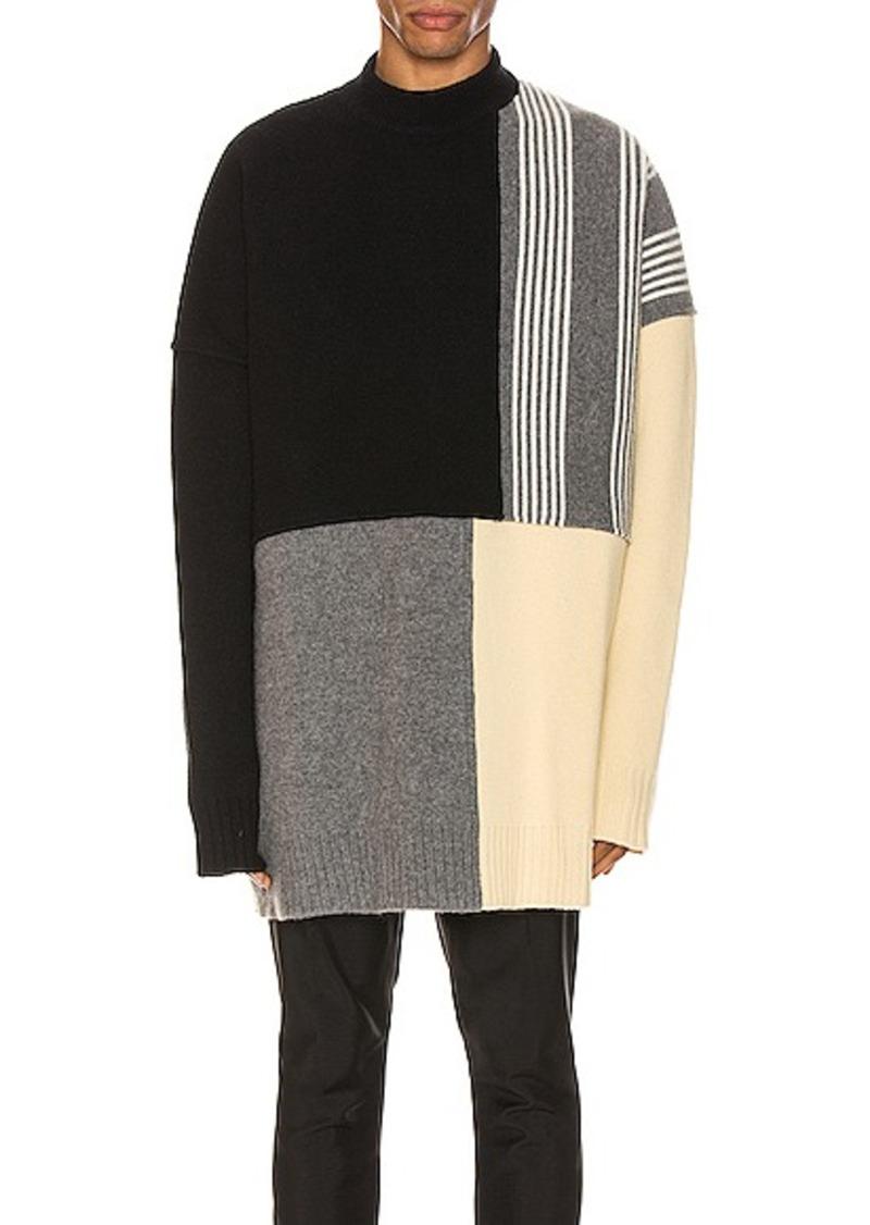 Jil Sander Panels Crewneck Sweater