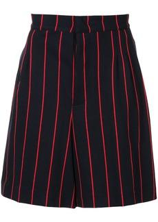 Jil Sander pinstripe chino shorts - Blue