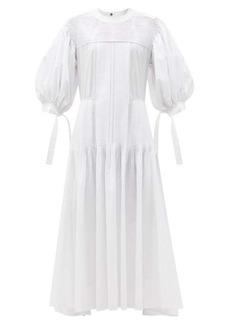 Jil Sander Pintucked cotton maxi dress