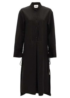 Jil Sander Pintucked crepe dress