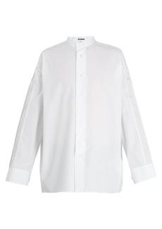 Jil Sander Piroga pintuck-sleeve cotton tunic shirt